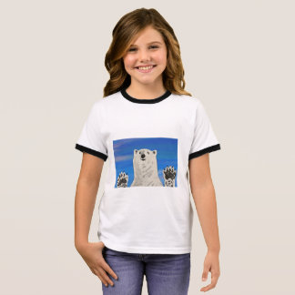 polar bear T-shirt, kid Ringer T-Shirt