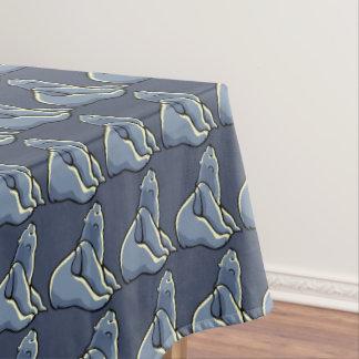 Polar Bear Tablecloth Baby Bear Art Tablecloth