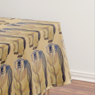 Polar Bear Tablecloth Bear Art Tablecloth
