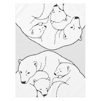 Polar Bear Tablecloth Bear w. Cubs Art Tablecloth