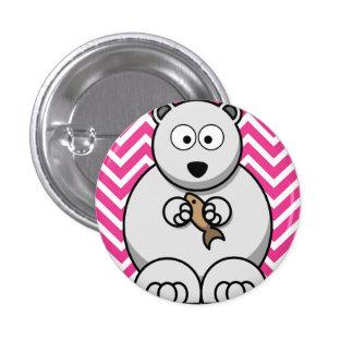 Polar bear themed 3.2cm badge 1 inch round button