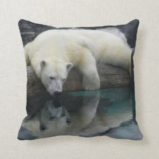 Polar Bear Throw Pillow. Wildlife Photography Throw Pillow