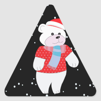 polar bear triangle sticker