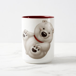 polar bear Two-Tone coffee mug