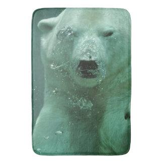 Polar Bear Under Water Bath Mat