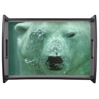 Polar Bear Under Water Serving Tray