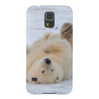 polar bear, Ursus maritimus, cub rolling 3 Galaxy S5 Cover
