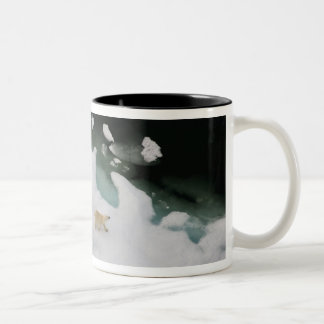 polar bear, Ursus maritimus, sow with cub 4 Two-Tone Coffee Mug