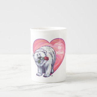Polar Bear Valentine's Day Bone China Mug
