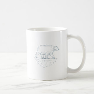 Polar Bear Walking Iceberg Ukiyo-e Coffee Mug