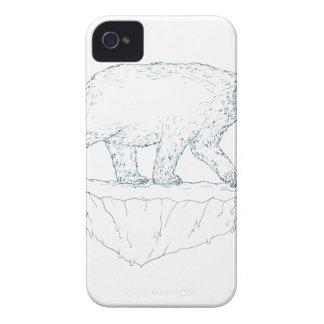 Polar Bear Walking Iceberg Ukiyo-e iPhone 4 Cover