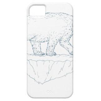 Polar Bear Walking Iceberg Ukiyo-e iPhone 5 Cases