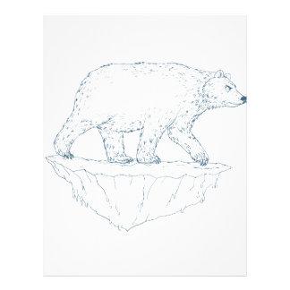 Polar Bear Walking Iceberg Ukiyo-e Letterhead