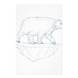 Polar Bear Walking Iceberg Ukiyo-e Stationery