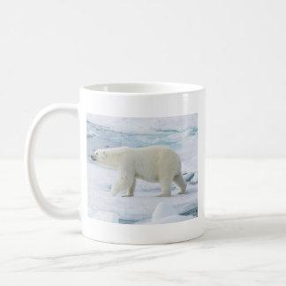 Polar bear walking, Norway Coffee Mug