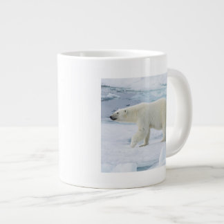 Polar bear walking, Norway Large Coffee Mug