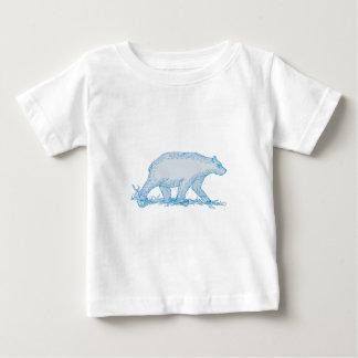 Polar Bear Walking Side Drawing Baby T-Shirt