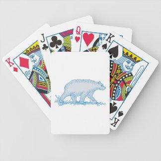 Polar Bear Walking Side Drawing Bicycle Playing Cards