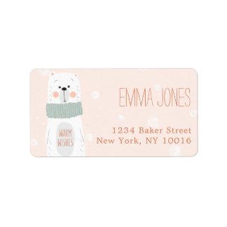 Polar Bear / Warm Wishes / Address Label