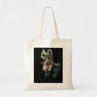 polar bear warrior princess canvas bag