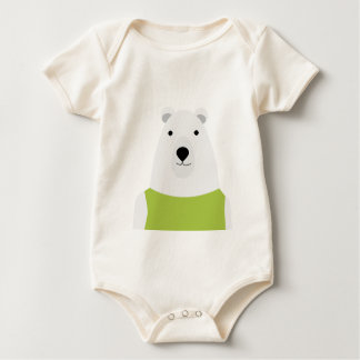 Polar Bear Waving Baby Bodysuit