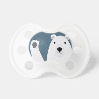 Polar Bear Waving Pacifiers