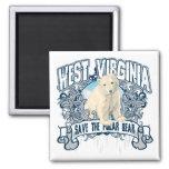 Polar Bear West Virginia Fridge Magnet