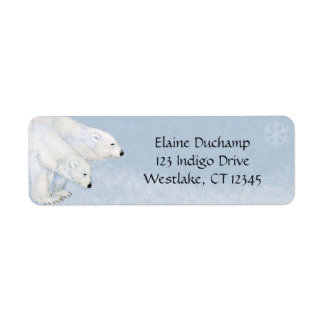 Polar Bear Winter Magic Return Address Labels