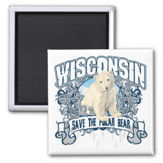 Polar Bear Wisconsin Magnet