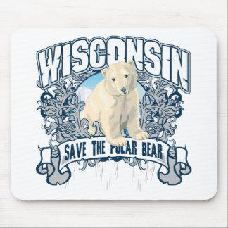 Polar Bear Wisconsin Mouse Pad