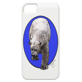 Polar bear with blue background motif phone case