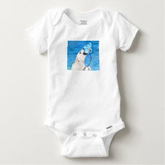 Polar Bear with Toasted Marshmallow Baby Onesie