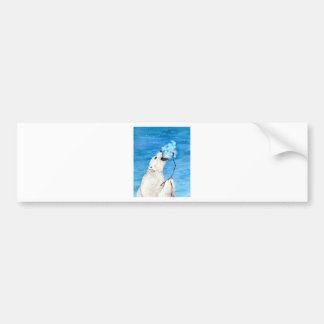 Polar Bear with Toasted Marshmallow Bumper Sticker