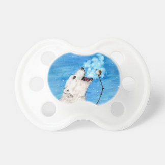 Polar Bear with Toasted Marshmallow Pacifier