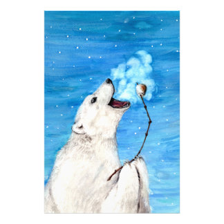 Polar Bear with Toasted Marshmallow Photo Print