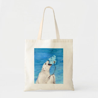 Polar Bear with Toasted Marshmallow Tote Bag