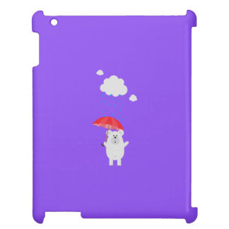 Polar Bear with Umbrella Q1Q iPad Case