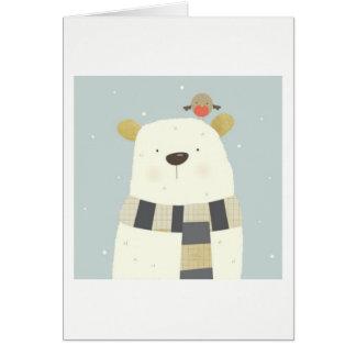 Polar Bear Xmas Card