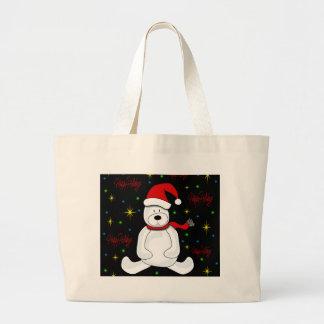 Polar bear - Xmas design Large Tote Bag