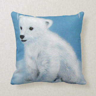 Polar bear-young as cushions