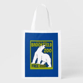 Polar Bear Zoo Poster Tote Bag Market Tote