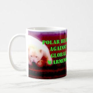 Polar Bear's Against: Global Warming! Classic White Coffee Mug