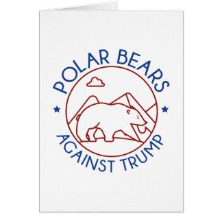 Polar Bears Against Trump Card