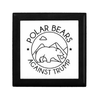 Polar Bears Against Trump Gift Box