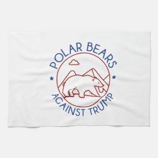 Polar Bears Against Trump Hand Towels