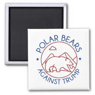 Polar Bears Against Trump Magnet