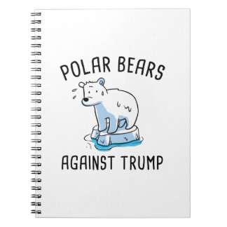 Polar Bears Against Trump Notebook