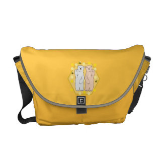 polar bears and honey bees courier bags
