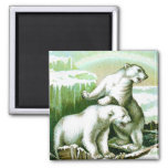 Polar Bears and Northern Lights Refrigerator Magnets