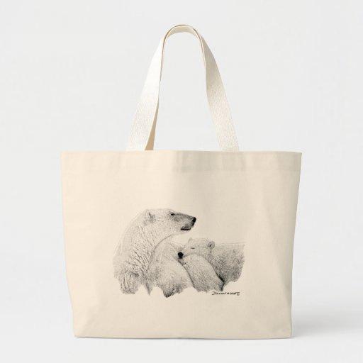 Polar Bears Canvas Bags